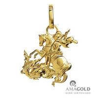 Pingente Medalha São Jorge 1,5 Cm Ouro 18k
