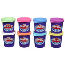 Massinha Play-doh - Kit 8 Potes Massinha Play Doh Plus