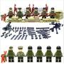 Segunda Guerra Mundial Exercito Americano Lego Compatível