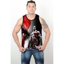Regata Machão Cavada Heróis Musculação Academia God Of War