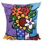 Almofada Impressão Digital Vaso Com Flores Ii Colorido 42x4