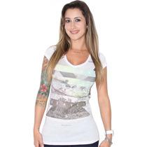 Camiseta Rip Curl Tee Radience Nature Long Feminina White