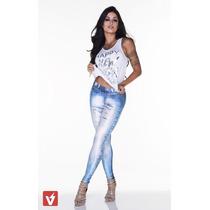 Legging Imita Jeans Fitness Academia Lipsoulgirls Original