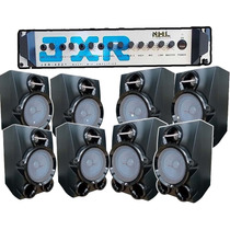 Kit Som Ambiente 8 Caixas Acústicas + Amplificador 500w 6ch