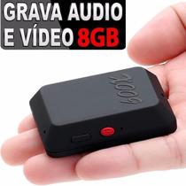 Micro Escuta Espiã Gsm X009 8gb Quadband Sensor Gravador Voz