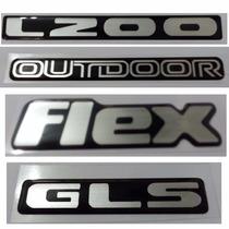Kit Emblema L200 Outdoor Flex Gls Resinado Promoção !!!