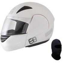 Capacete Ebf E8 Robocop Articulado Aberto Original + Touca