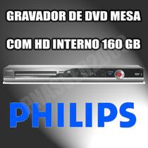 Gravador De Dvd De Mesa Philips Dvdr3455h Hdd Interno 160 Gb