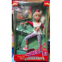 Boneca Susi Patinadora/patinete Antiga Original Nova Lacrada