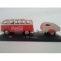 Miniatura Kombi Coca Cola C/carreta Esc 1/43 Na Caixa