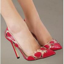 Sapato Importado Transparente A Pronta Entrega