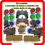 Kit Arcade 2 Comandos 20 Botoes 2 Controles Usb 1 Metro Fio