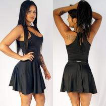 Vestido Est Forever Costa Nua Aberta Ciganinha Cigana Básico