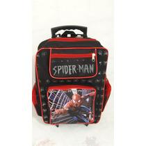 Bolsa Mochila Escolar Com Rodinhas Homem Aranha