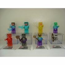 Minecraft Blocos Montar Bonecos Lego Minifigura Compatíveis
