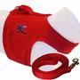 Peitoral P/ Cães Vermelho N.2 - Adaptador De Cinto Segurança