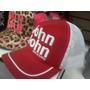 Boné John John Feminino * Vermelho * Letras Bordado Branco