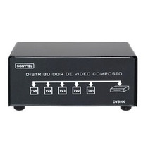Splitter Distribuidor De Video Composto+audio 1x5 Dvs500
