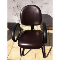 Lote Com 10 Cadeiras Diretor (tecno Flex) Courino Marrom