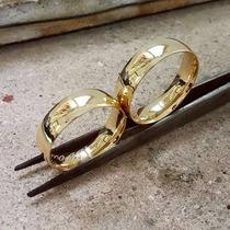 Par De Alianças Ouro 18k 5mm, Garantia Eterna Hg Jóias