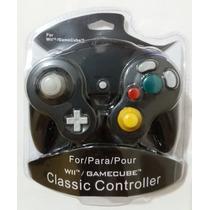 Controle Nintendo Wii Game Cube Preto Lacrado Pronta Entrega