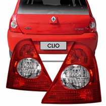 Lanterna Traseira Clio Hatch 03 04 05 06 07 08 A 10 Acrilico