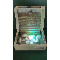 Fonte Cascata Espelho D`água Pedra Sabão Com Luz Ótimo Preço