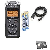 Gravador Digital Tascam Dr-05 Versão 2 + Sd 4gb + Manual Pdf
