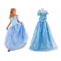 Vestido Fantasia Infantil Princesa Cinderela