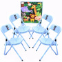 Mesa Infantil De Aco Quadrada C/4 Cadeiras
