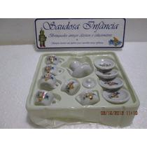 Conjunto Miniaturas Xícaras Bulês Porcelana Único A Venda