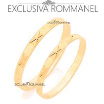 Rommanel Aliança Anel Diamantada Em X Folheada A Ouro 510027