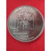 Moeda Usa Quarter Dollar Estados Americanos New Mexico P