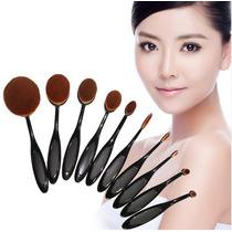 Kit 10 Pinceis Escova De Maquiagem Make Profissionais