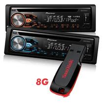 Novo Aparelho De Som Pioneer C Pendrive E Bluetooth Usb Rca