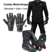 Combo Macacão Texx, Bota, Luva