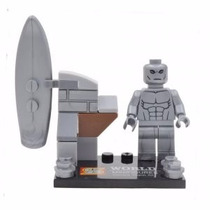 Minifigure Surfista Prateado (compatível Com Lego)