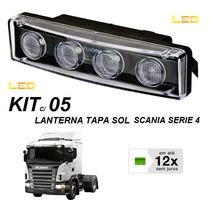 Kit C/ 2 Lanterna Led Tapa Sol Caminhão Scania Serie 4 E 5