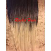 Aplique Tic Tac Castanho Ombre Hair 70 Cm Liso Igual Humano