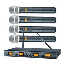 Microfone Sem Fio Staner Srw48q (4 Mics Em Uma Base)
