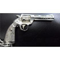 Chaveiro Revolver Rossi 38 Arma Pistola Miniatura Metal