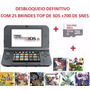 New 3ds Xl Desbloqueado+32gb +25 Brindes De 3ds+700 De Snes
