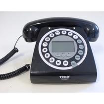 Telefone Retrô Vintage Com Identificador Cor Preto Promoção