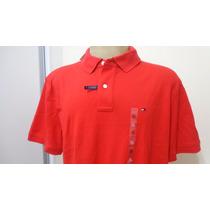 Camisa Polo Tommy Hilfiger Tam Gg Cor Vermelha Original