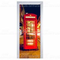 Adesivo Decorativo De Porta Madeira Vidro Telefone