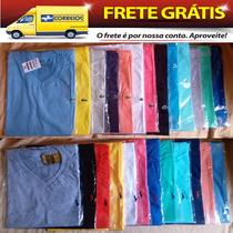 Kit Com 15 Camisetas Lisas Preço De Fábrica Frete Grátis