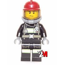 Lego Boneco Bombeiro Equipamentos - City - Frete R$5,00