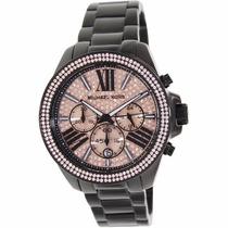 Relógio Michael Kors Mk5879 Preto Rose Original Garantia*