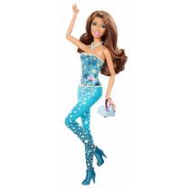 Boneca Barbie Fashionista Nikki Morena - Roupa Azul Strelas