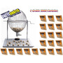 Jogo Bingo Globo Cromado Nº3 +2000 Cartelas + Frete Grátis